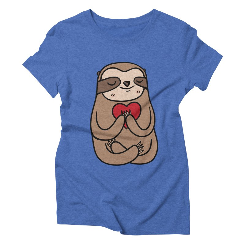 Sloth Love Women's Triblend T-shirt by Piratart Illustration