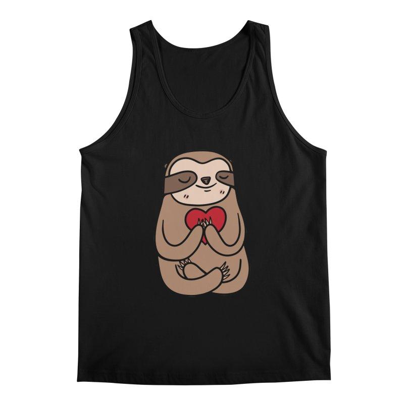 Sloth Love Men's Regular Tank by Piratart Illustration