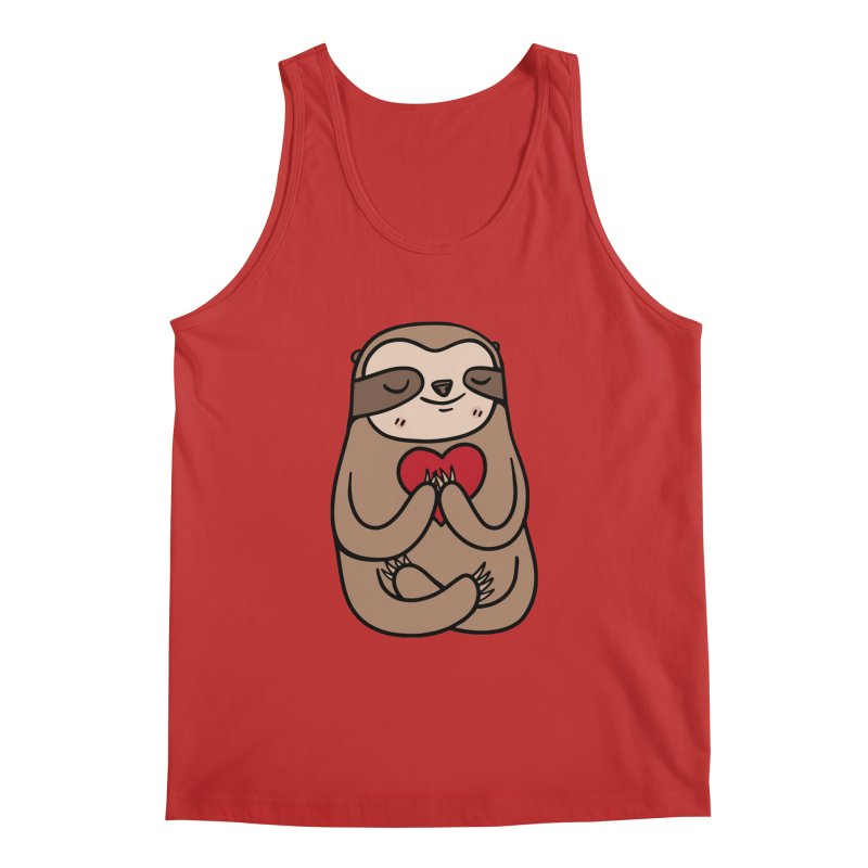 Sloth Love Men's Regular Tank by Piratart Illustration