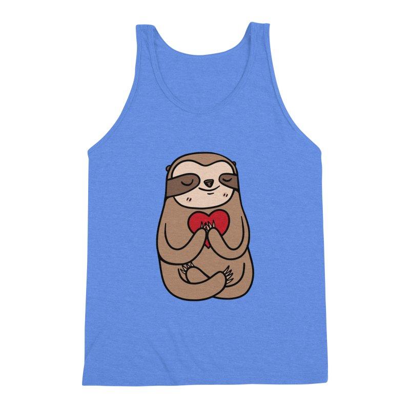 Sloth Love Men's Triblend Tank by Piratart Illustration