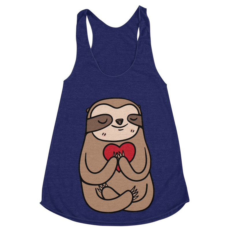 Sloth Love Women's Racerback Triblend Tank by Piratart Illustration