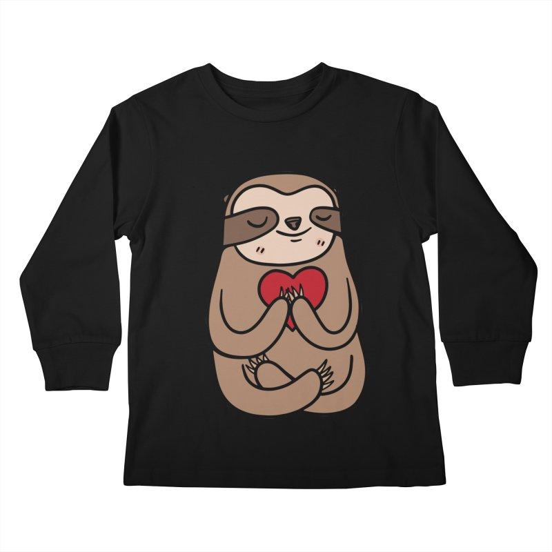 Sloth Love Kids Longsleeve T-Shirt by Piratart Illustration