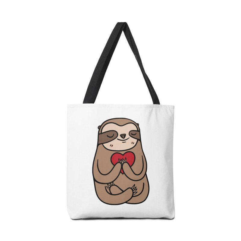 Sloth Love Accessories Bag by Piratart Illustration