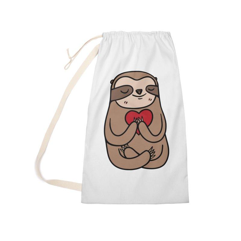 Sloth Love Accessories Bag by Piratart Illustration