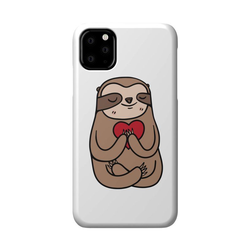 Sloth Love Accessories Phone Case by Piratart Illustration
