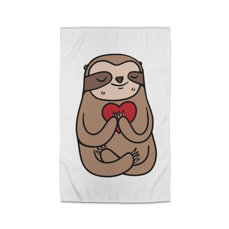Sloth Love Home Rug by Piratart Illustration
