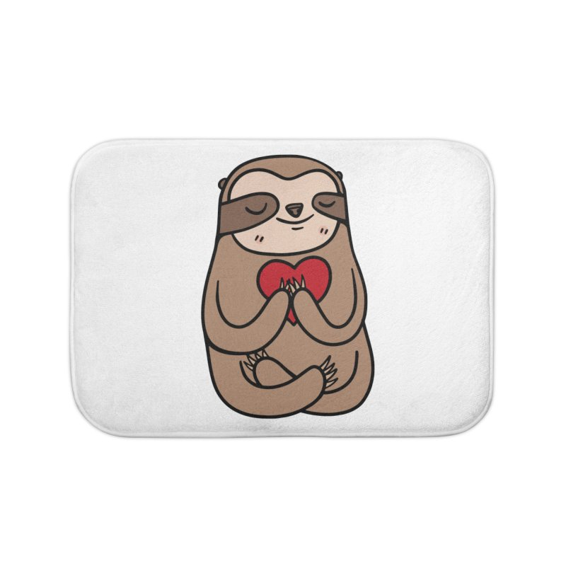 Sloth Love Home Bath Mat by Piratart Illustration