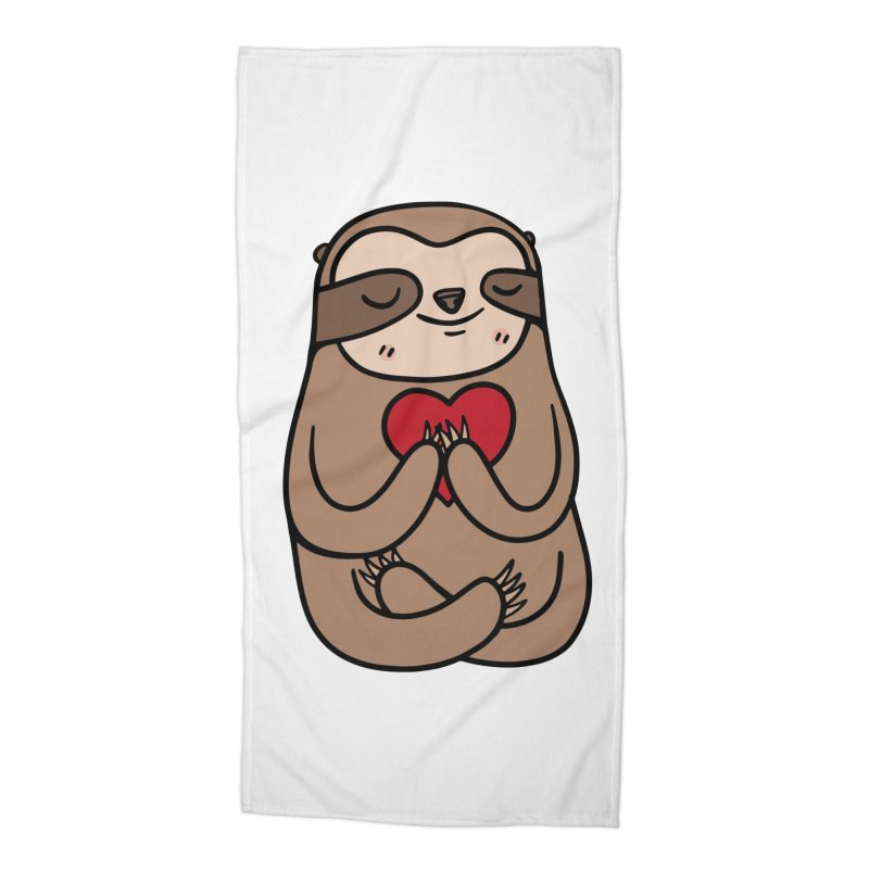 Sloth Love Accessories Beach Towel by Piratart Illustration