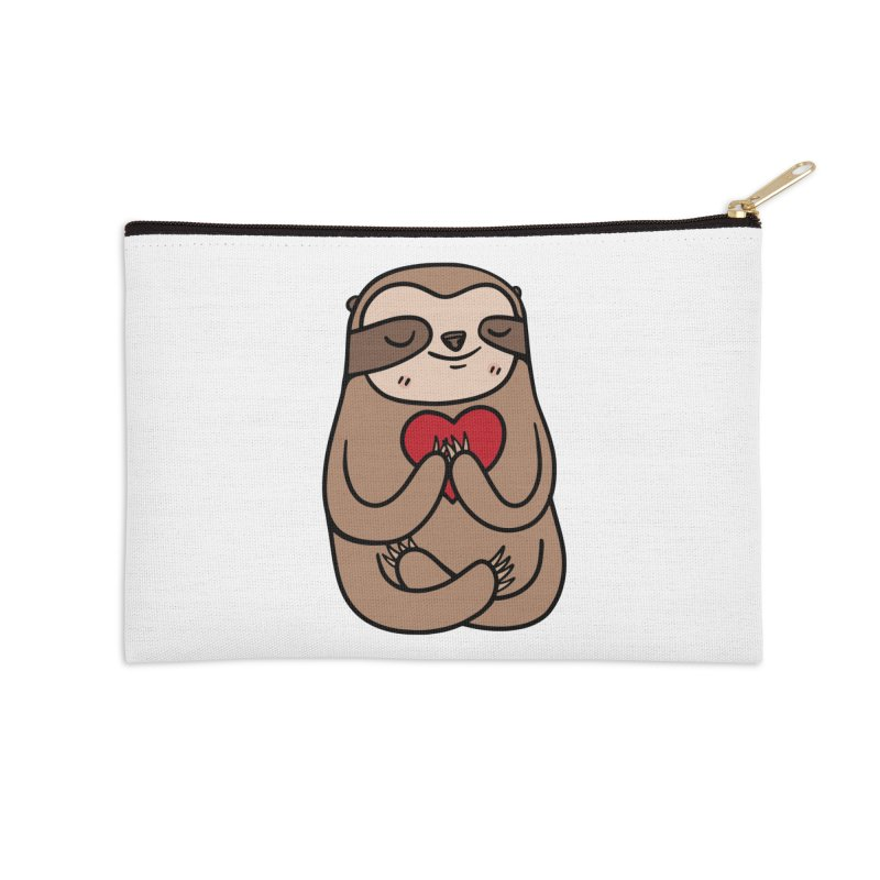 Sloth Love Accessories Zip Pouch by Piratart Illustration