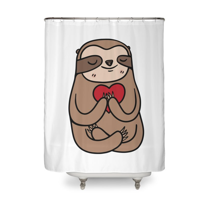 Sloth Love Home Shower Curtain by Piratart Illustration