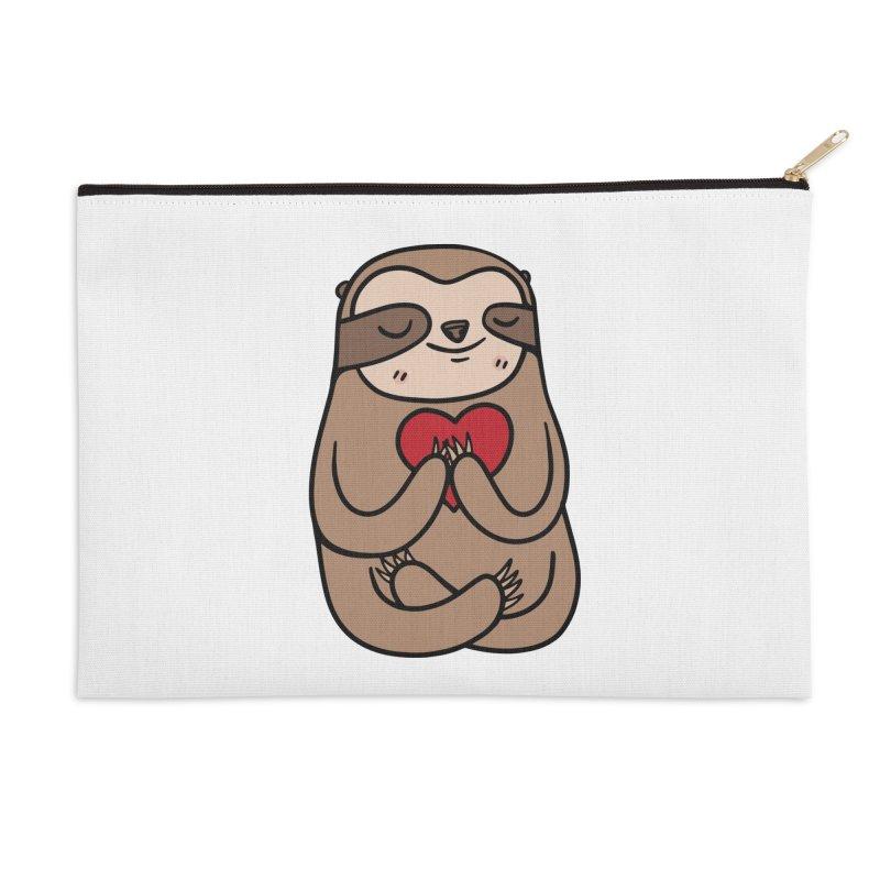 Sloth Love Accessories Zip Pouch by Piratart Illustration