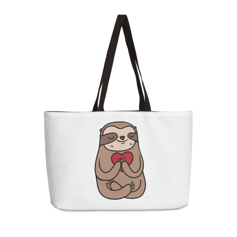 Sloth Love Accessories Weekender Bag Bag by Piratart Illustration