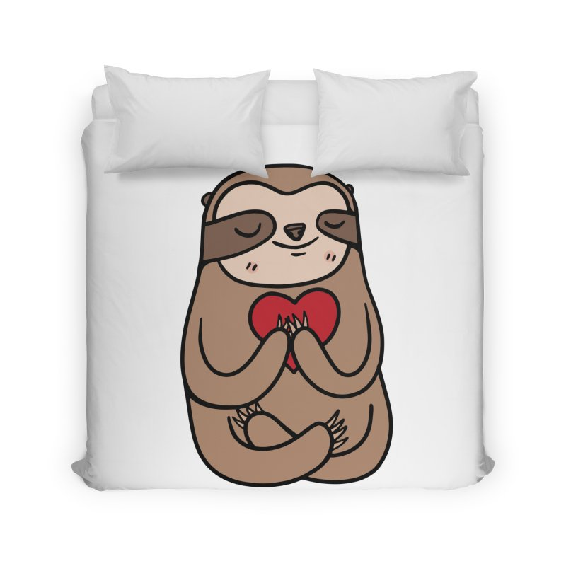 Sloth Love Home Duvet by Piratart Illustration