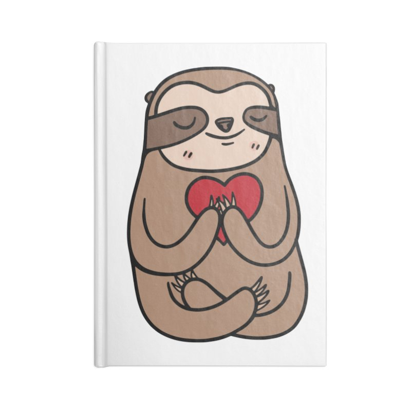 Sloth Love Accessories Lined Journal Notebook by Piratart Illustration