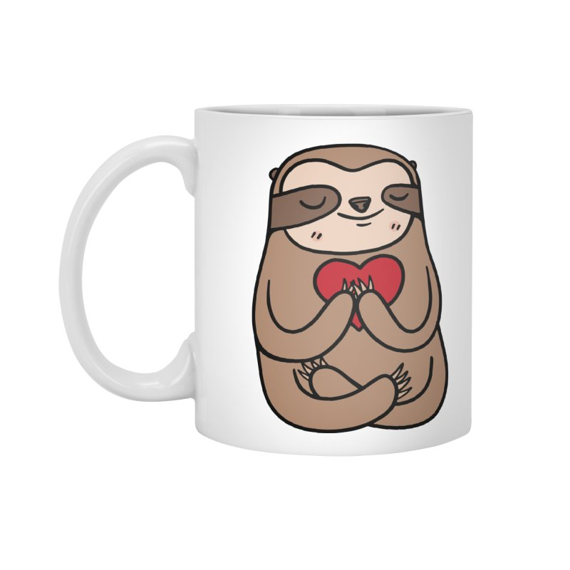 Sloth Love Accessories Standard Mug by Piratart Illustration