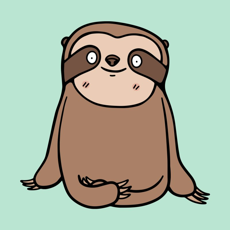 Chubby Sloth by Piratart Illustration