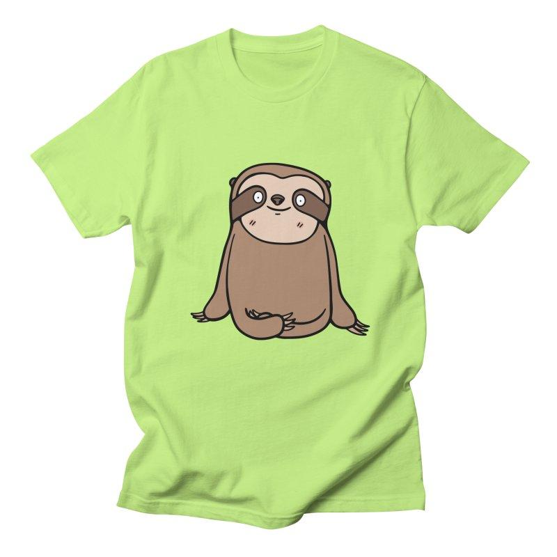 Chubby Sloth Men's T-Shirt by Piratart Illustration