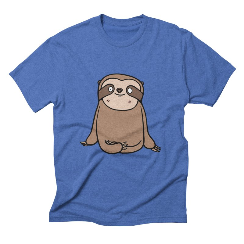 Chubby Sloth Men's T-Shirt by Piratart Illustration