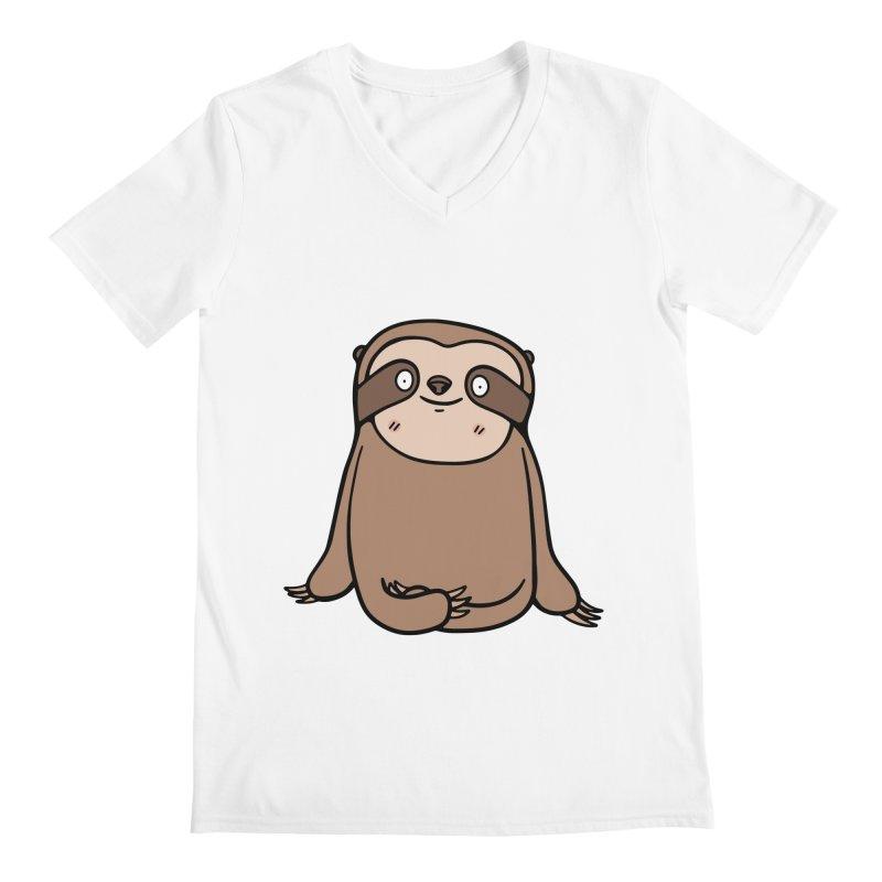 Chubby Sloth Men's V-Neck by Piratart Illustration