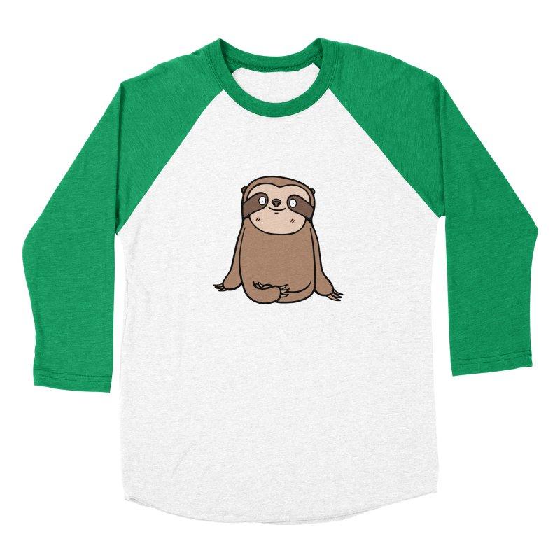 Chubby Sloth Women's Longsleeve T-Shirt by Piratart Illustration