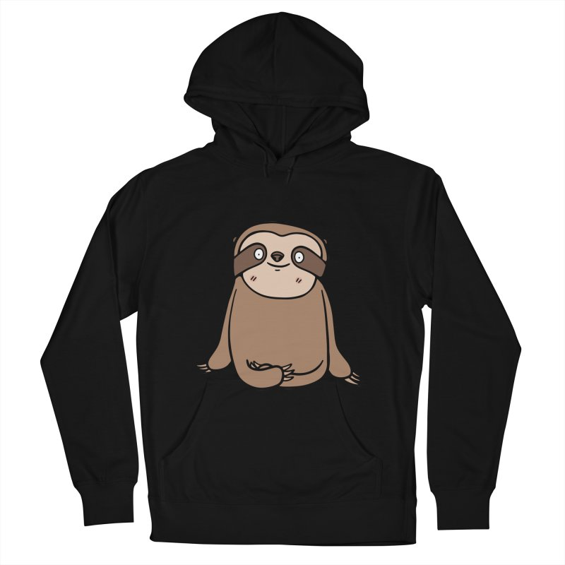 Chubby Sloth Women's French Terry Pullover Hoody by Piratart Illustration