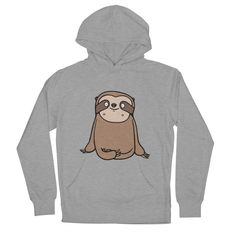 Chubby Sloth Men's French Terry Pullover Hoody by Piratart Illustration