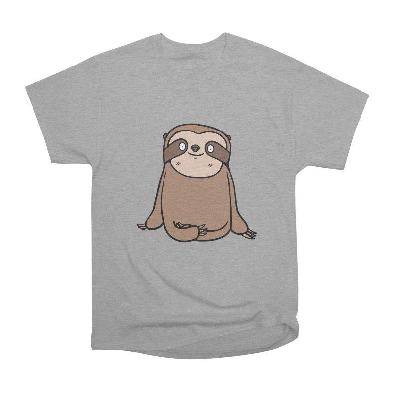 Chubby Sloth Men's Heavyweight T-Shirt by Piratart Illustration