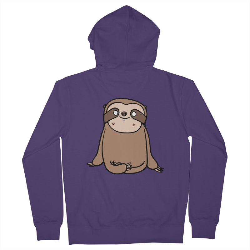 Chubby Sloth Women's French Terry Zip-Up Hoody by Piratart Illustration