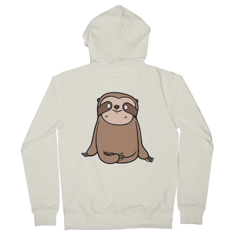 Chubby Sloth Men's French Terry Zip-Up Hoody by Piratart Illustration