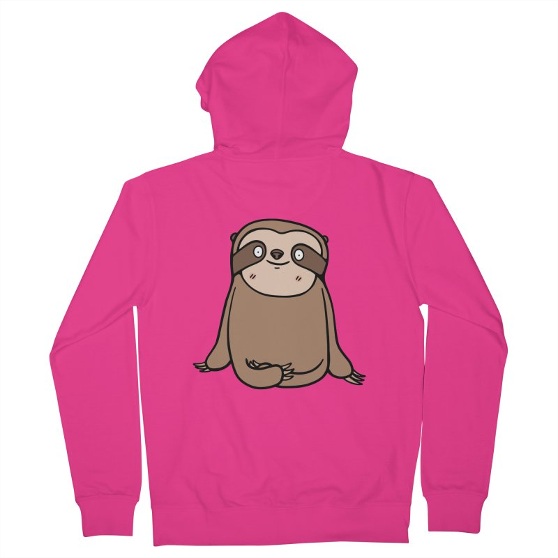 Chubby Sloth Men's Zip-Up Hoody by Piratart Illustration