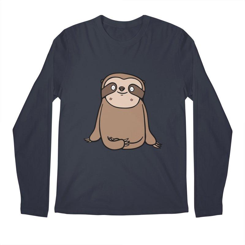 Chubby Sloth Men's Longsleeve T-Shirt by Piratart Illustration