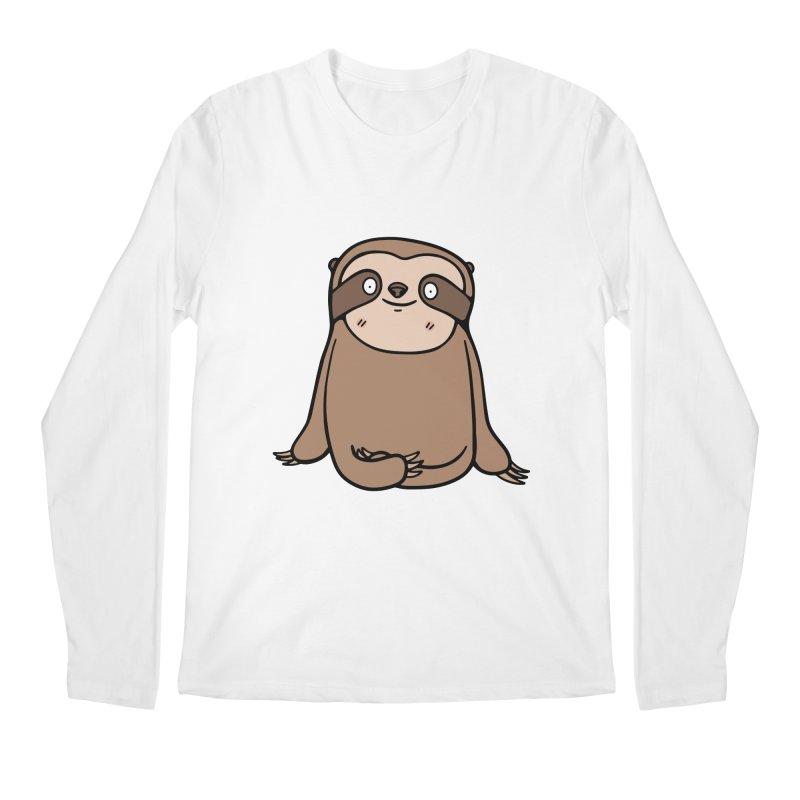Chubby Sloth Men's Regular Longsleeve T-Shirt by Piratart Illustration