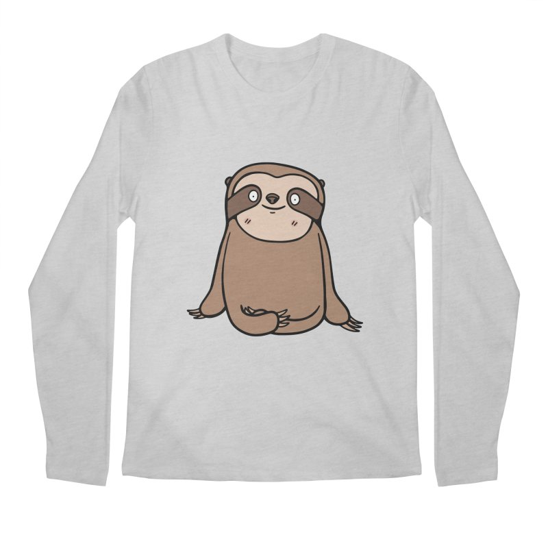 Chubby Sloth Men's Longsleeve T-Shirt by Piratart Illustration