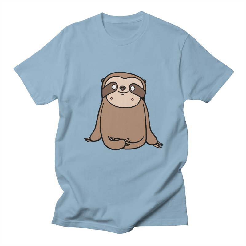 Chubby Sloth Men's Regular T-Shirt by Piratart Illustration