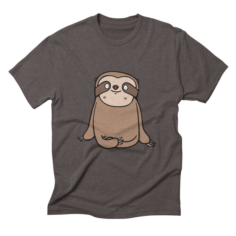 Chubby Sloth Men's Triblend T-Shirt by Piratart Illustration