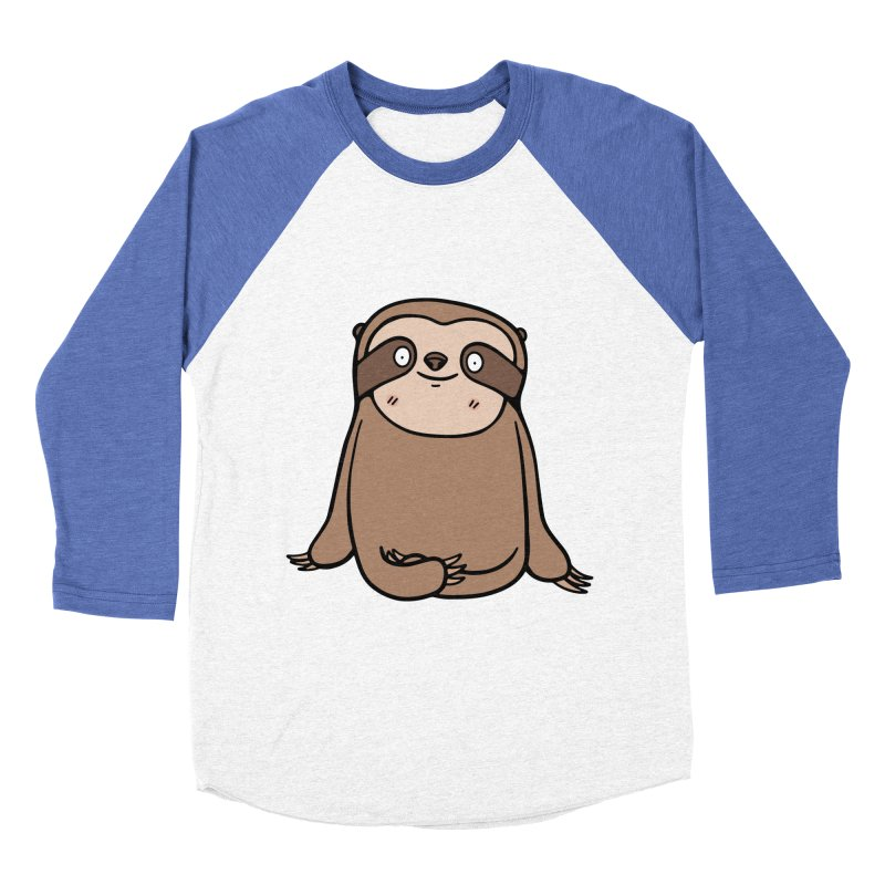 Chubby Sloth Women's Baseball Triblend Longsleeve T-Shirt by Piratart Illustration