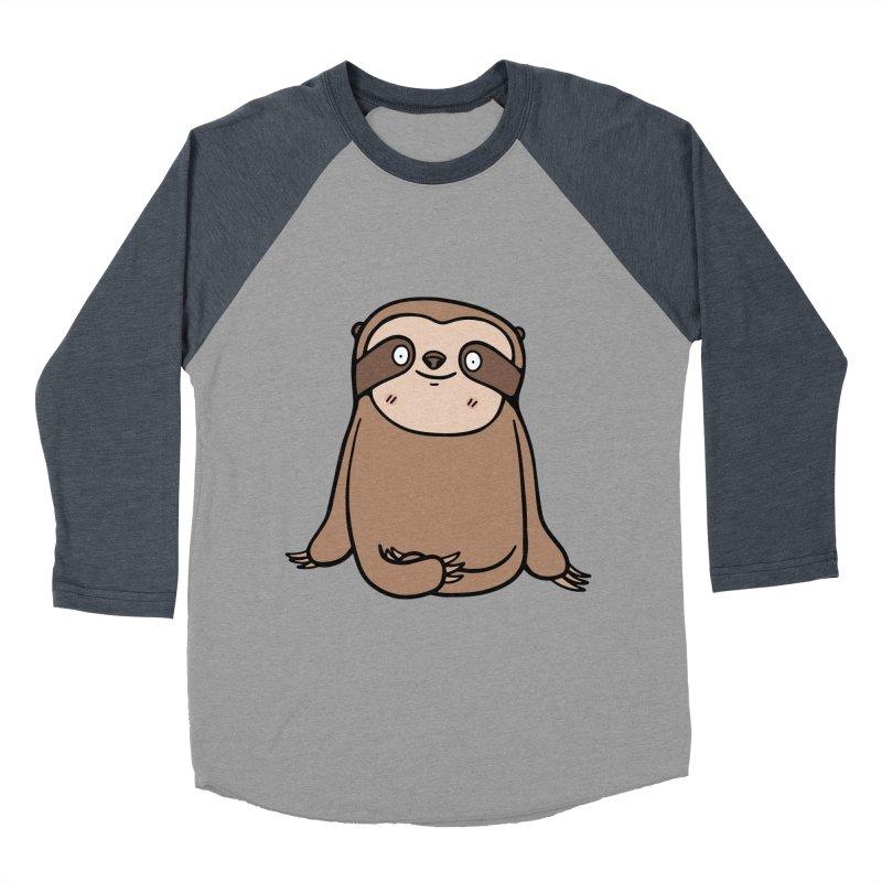 Chubby Sloth Men's Baseball Triblend T-Shirt by Piratart Illustration