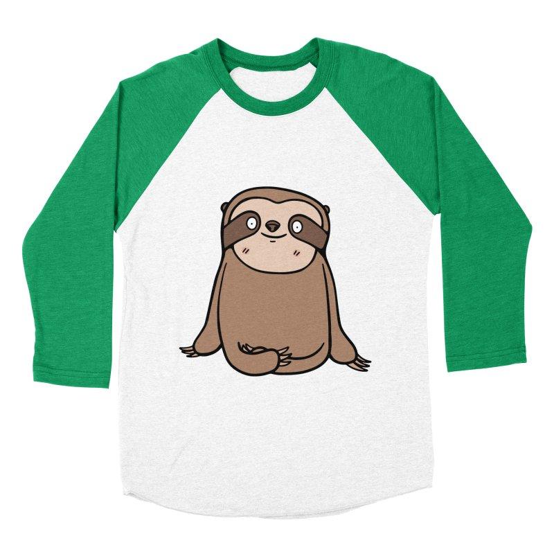 Chubby Sloth Men's Baseball Triblend Longsleeve T-Shirt by Piratart Illustration