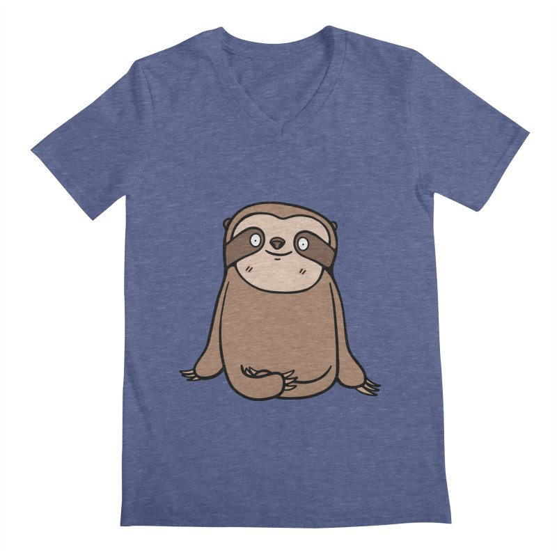 Chubby Sloth Men's V-Neck by Piratart Illustration