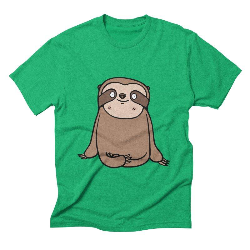 Chubby Sloth Men's Triblend T-shirt by Piratart Illustration