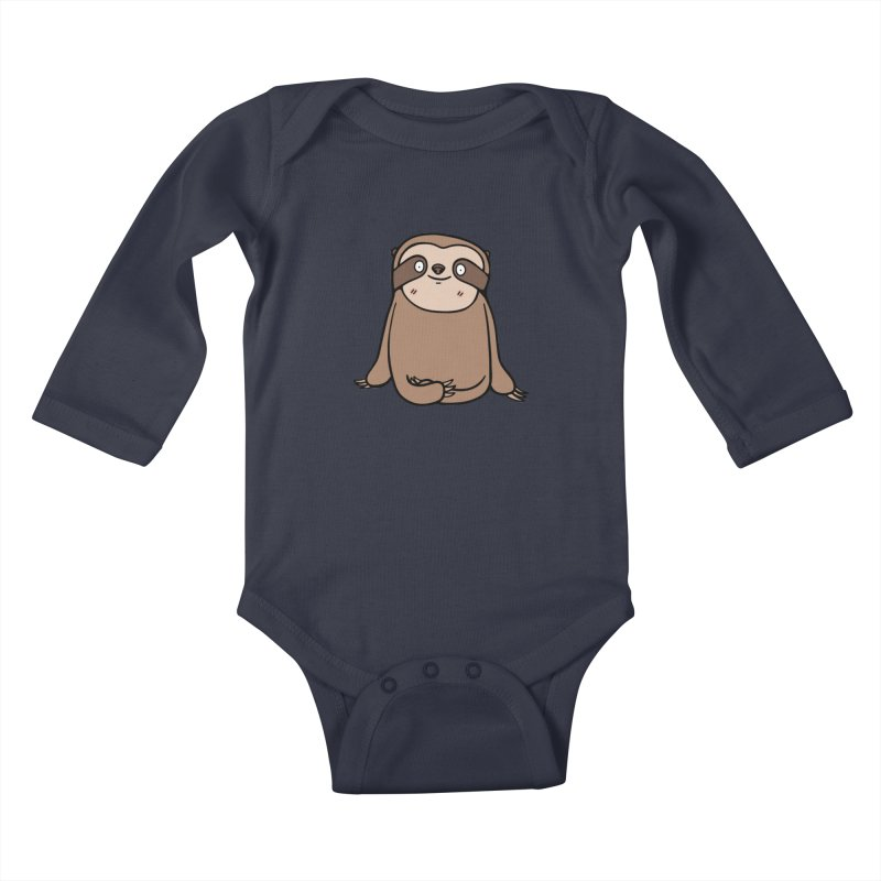 Chubby Sloth Kids Baby Longsleeve Bodysuit by Piratart Illustration