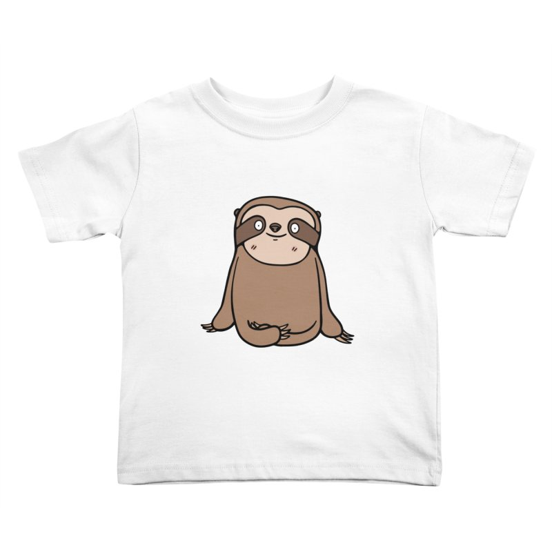 Chubby Sloth Kids Toddler T-Shirt by Piratart Illustration