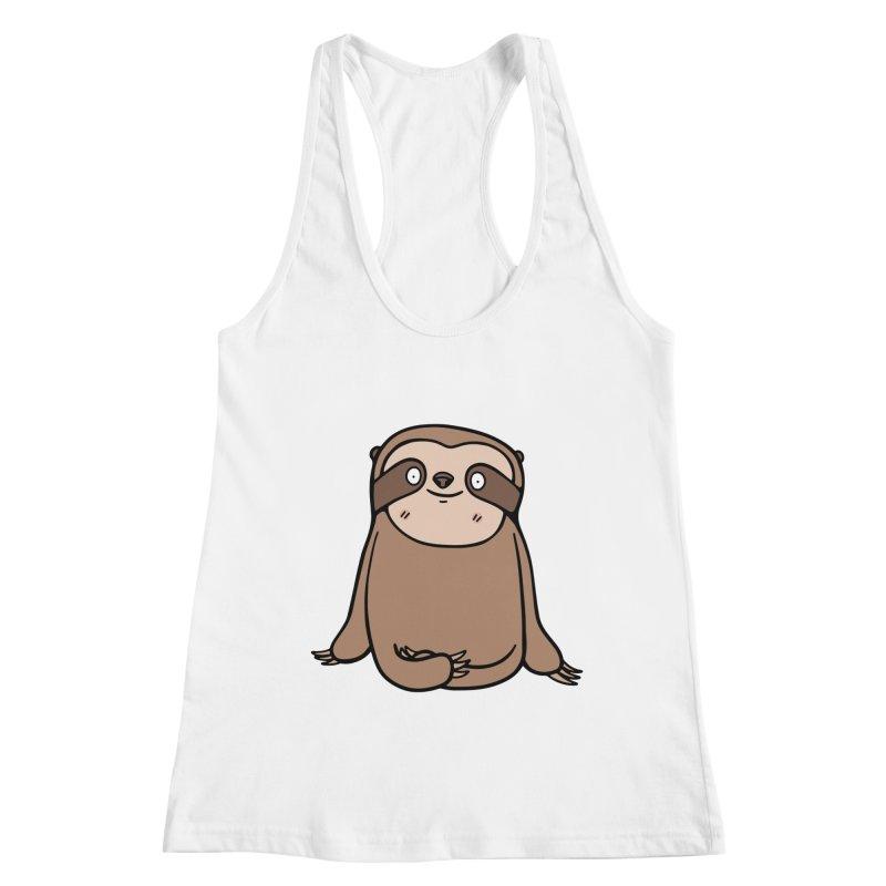 Chubby Sloth Women's Tank by Piratart Illustration