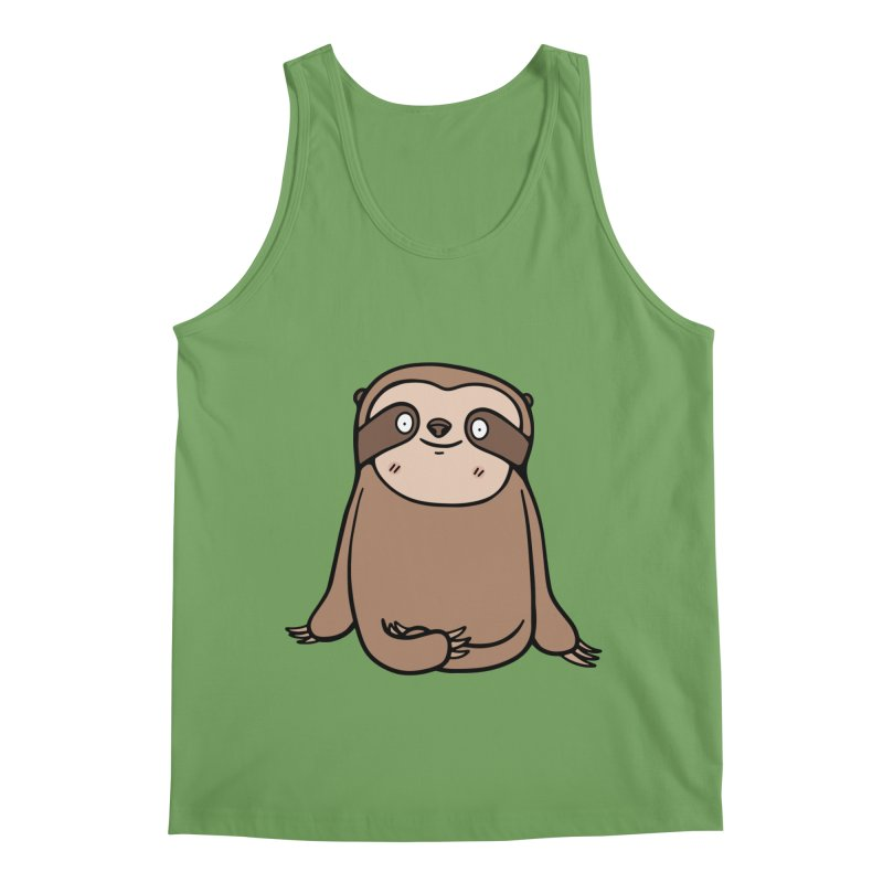 Chubby Sloth Men's Tank by Piratart Illustration