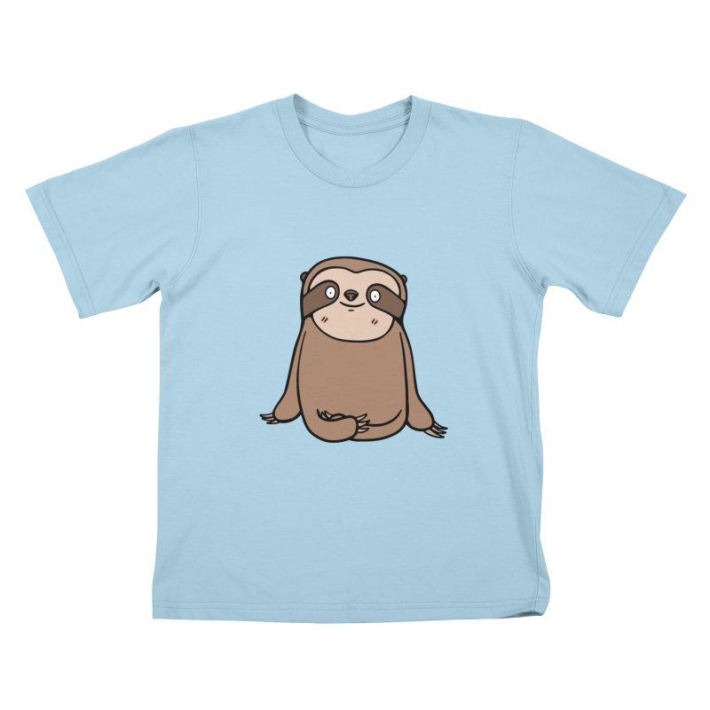 Chubby Sloth Kids T-Shirt by Piratart Illustration