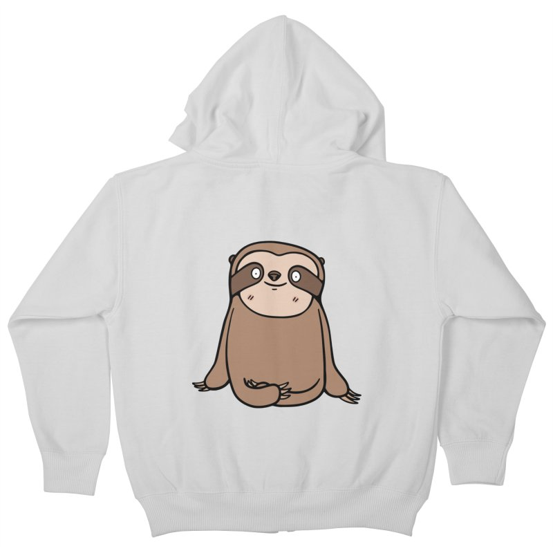 Chubby Sloth Kids Zip-Up Hoody by Piratart Illustration
