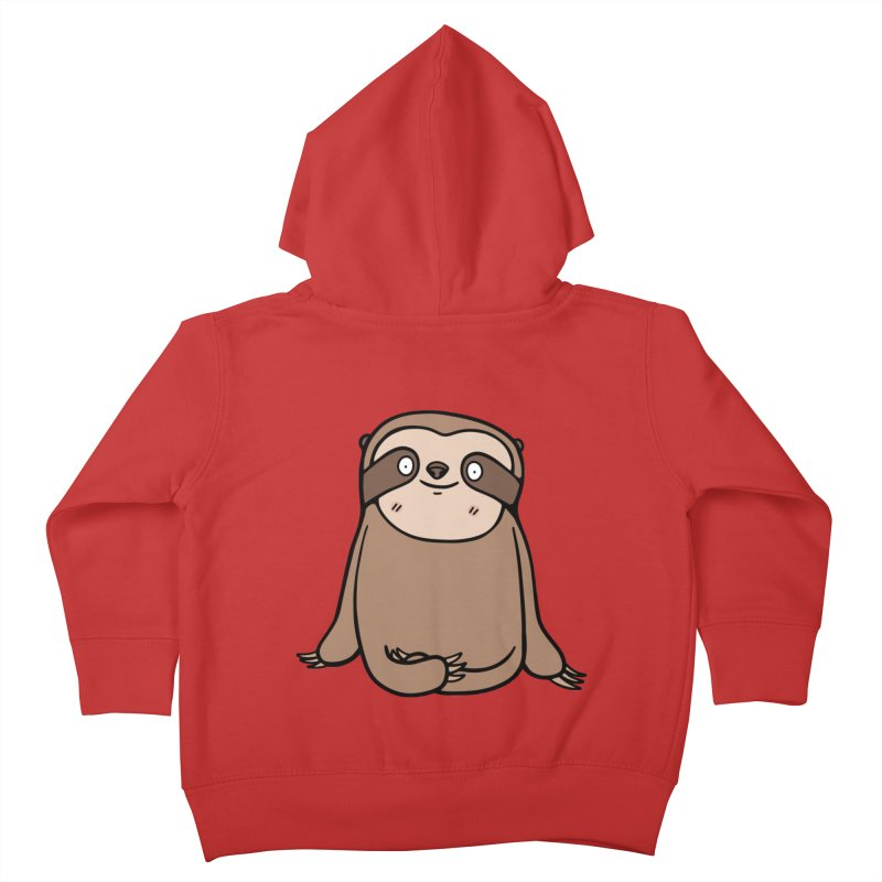 Chubby Sloth Kids Toddler Zip-Up Hoody by Piratart Illustration