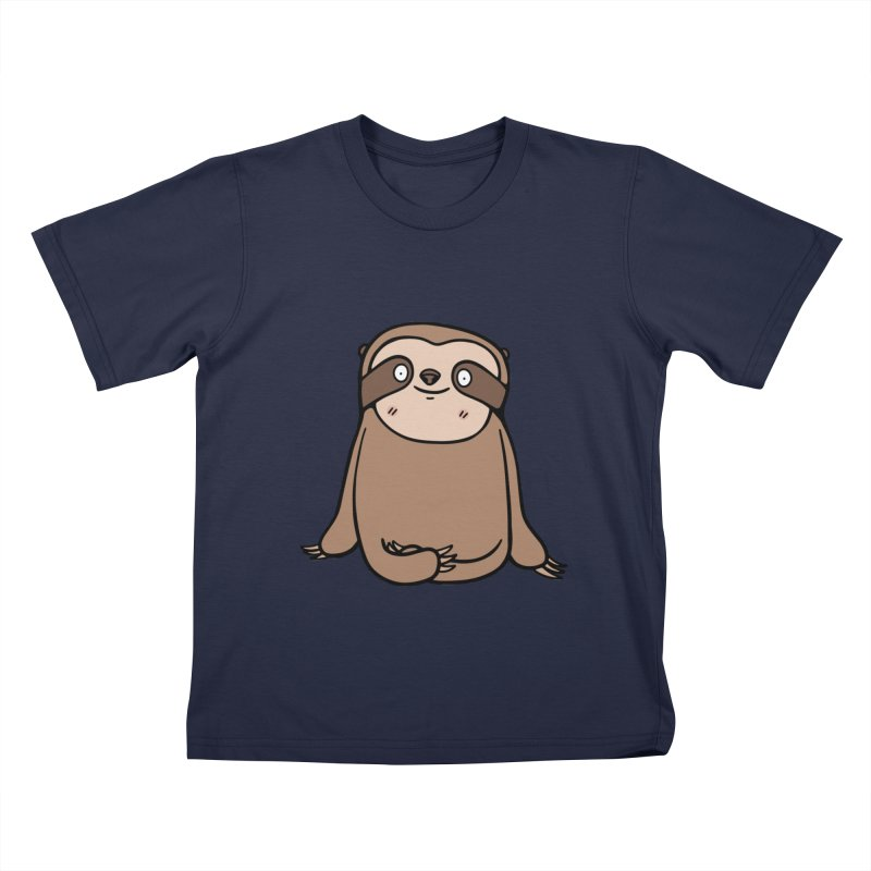 Chubby Sloth Kids T-Shirt by Piratart Illustration