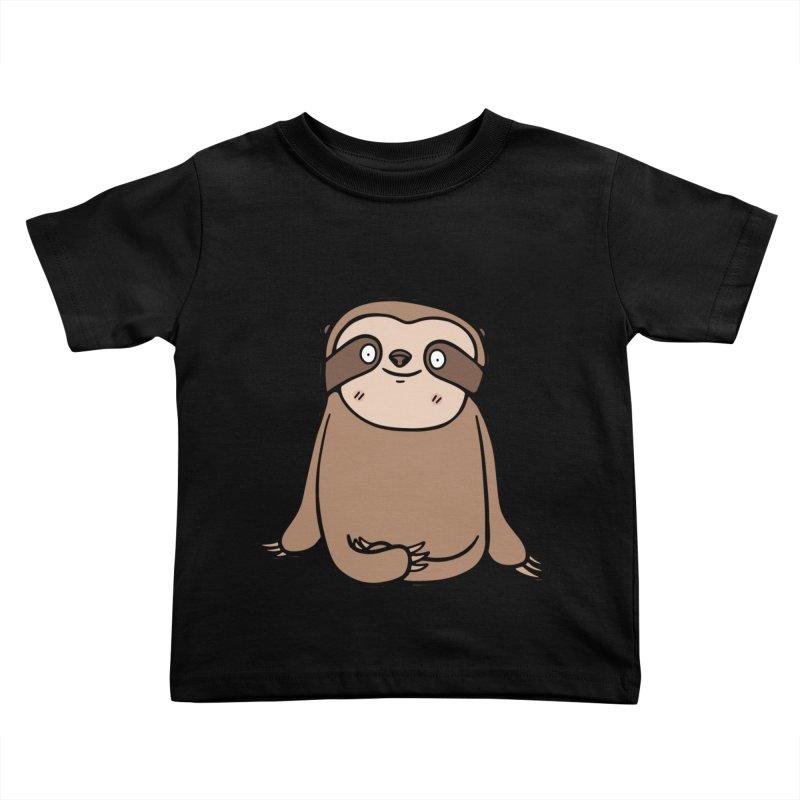 Chubby Sloth Kids Toddler T-Shirt by Piratart Illustration