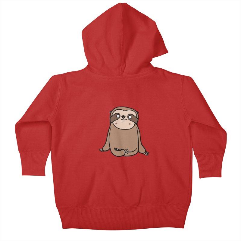 Chubby Sloth Kids Baby Zip-Up Hoody by Piratart Illustration